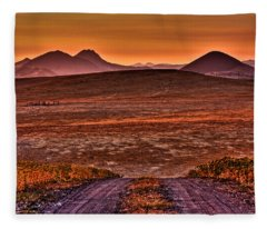 Road To Edna Valley Fleece Blanket