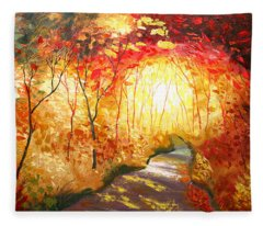 Road To The Sun Fleece Blanket