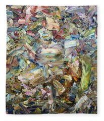 Roadside Fragmentation - Square Fleece Blanket