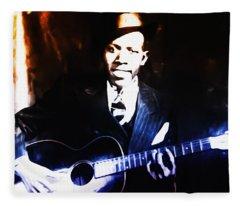Robert Johnson - King Of The Blues Fleece Blanket