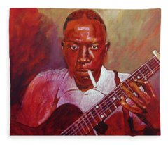 Robert Johnson Photo Booth Portrait Fleece Blanket