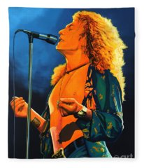 Robert Plant Fleece Blankets