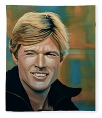 Robert Redford Fleece Blanket