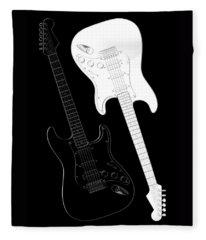 Rock And Roll Yin Yang Fleece Blanket