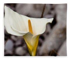 Rock Calla Lily Fleece Blanket