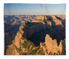Rock Formations At A Canyon, North Rim Fleece Blanket