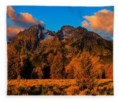 Rock Of Ages Panorama Fleece Blanket