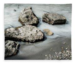 Rocks In The River Fleece Blanket