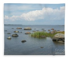 Rocks On The Baltic Sea Fleece Blanket