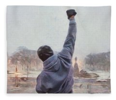Rocky Balboa Fleece Blanket