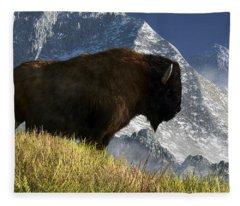 Rocky Mountain Buffalo Fleece Blanket