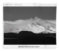 Rocky Mountain High Poster Print Fleece Blanket