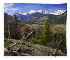 Rocky Mountain National Park Fleece Blanket