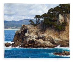 Rocky Outcropping At Point Lobos Fleece Blanket