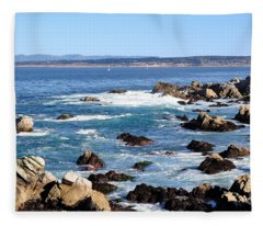 Rocky Remains At Monterey Bay Fleece Blanket