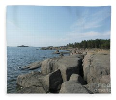 Rocky Seashore 2 In Hamina  Fleece Blanket