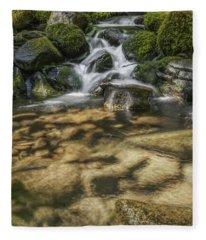 Rocky Waterfall Fleece Blanket