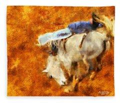 Eight-second Ride Fleece Blanket