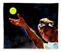 Roger Federer Tennis 1 Fleece Blanket