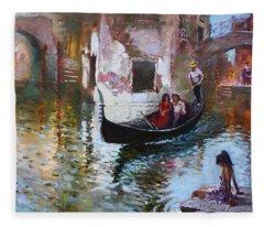 Romance In Venice 2013 Fleece Blanket