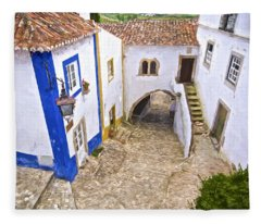 Romantic Obidos Fleece Blanket