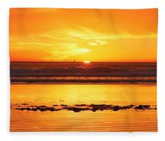 Romantic Sunset  Fleece Blanket