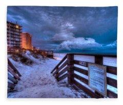 Romar Beach Clouds Fleece Blanket