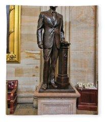 Ronald Regan -  U S Capitol Statuary Hall Fleece Blanket