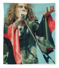 Ronnie James Dio Of Black Sabbath During 1980 Heaven And Hell Tour-2nd New Photo  Fleece Blanket