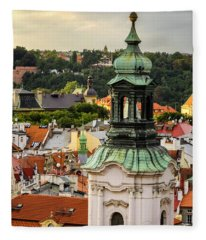 Rooftops Of Prague 1 Fleece Blanket
