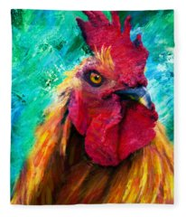 Rooster Colorful Expressions Fleece Blanket