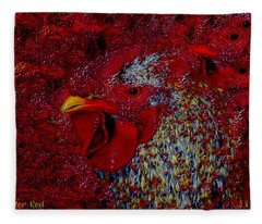 Rooster Red Fleece Blanket