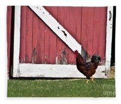 Rooster Strut Fleece Blanket