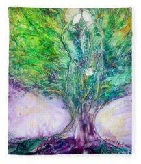 Rooted In Love Fleece Blanket