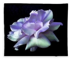 Rose Awakening Floral Fleece Blanket