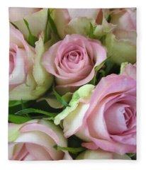 Rose Bed Fleece Blanket