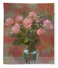 Rose Bouquet Fleece Blanket