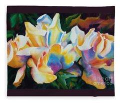Rose Cluster Half Fleece Blanket
