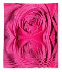 Rose Drops Fleece Blanket