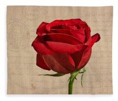 Rose En Variation - S2at03a Fleece Blanket