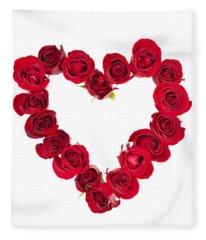 Rose Heart Fleece Blanket