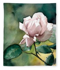 Watercolor Of A Lilac Rose  Fleece Blanket