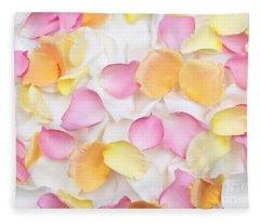 Rose Petals Background Fleece Blanket