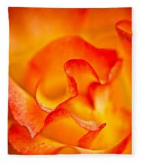 Rose Petals Closeup Fleece Blanket