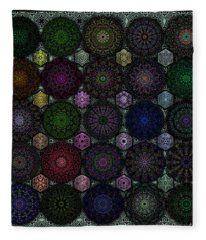 Rose Window Kaleidoscope Quilt Fleece Blanket