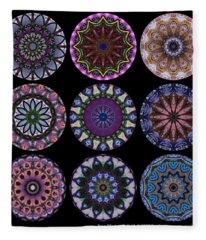 Rose Window Quilt 1 Fleece Blanket