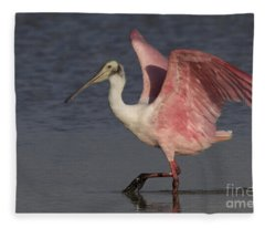 Roseate Spoonbill Fleece Blanket