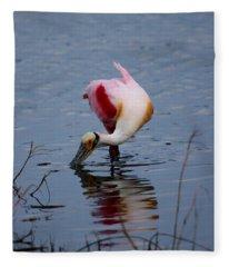 Roseate Spoonbill Twist Fleece Blanket