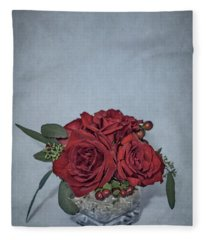 Roses Are Red... Fleece Blanket