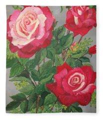 Roses N' Rain Fleece Blanket